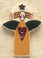 43071 - Garden Angel with Heart - 1in x 1 1/4in